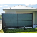 PrivacyPlus 95% Fence Privacy Screen - Chain Link Fence Outdoor Showers After Installation