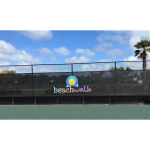 DuraScreen 80% Premier Vinyl Coated Polyester Fence Screening - Installed at Tennis Court