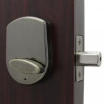 Lockey USA Slim Line Electronic and Mechanical Keyless Deadbolt Lock - Antique Brass (SL910-AB) - Inside Portion