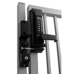 Lockey USA SUMO Surface Mounted Mechanical Code Keyless Entry Gate Lock (SUMO-GL2) Installed on Gate