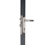 Locinox FortyLock Stainless Steel Mortise Lock Kit - Installed on Gate Frame - Hook Closed