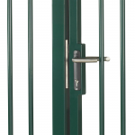 Locinox H-METAL-WB Installed on Gate - Latched Position