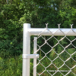 Aluminum Chain Link Swing Gate Corner Detail - Front View