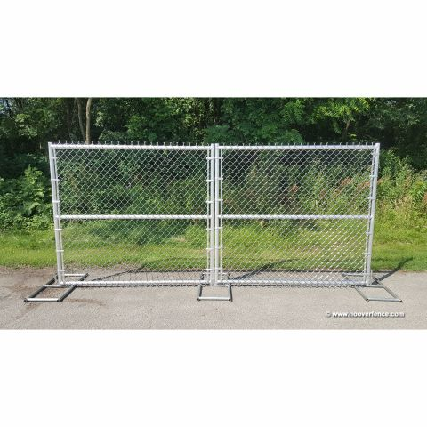 "All Aluminum Chain Link Fence Double Swing Gate - 2"" & 1-5/8"" Aluminum Sch40 Frame"