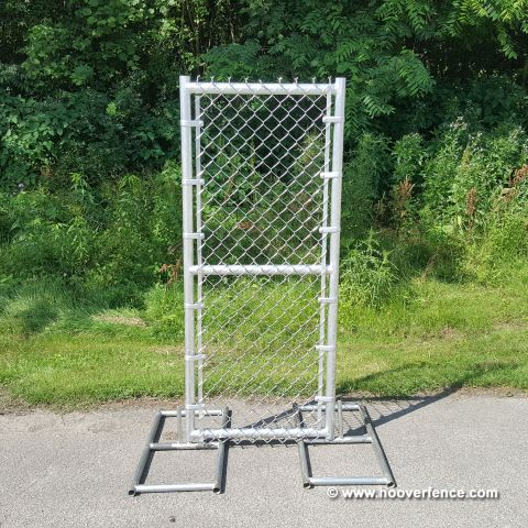"All Aluminum Chain Link Fence Single Swing Gate - 2"" & 1-5/8"" Aluminum Sch40 Frame"
