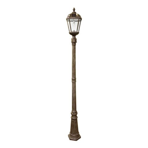 Gama Sonic Royal Bulb Single Solar Lamp and Lamp Post - uses GS Solar LED Light Bulb