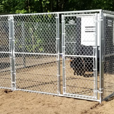 Hoover Fence Commercial Chain Link Fence Partition Panels with Gates