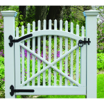 Snug Cottage Hardware Curved Old Fashioned Heavy Duty Hinges for Wood Gates, Each (8292-C-P)