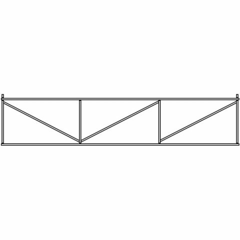 Hoover Fence Residential Chain Link Sliding Cantilever Gates - Galvanized, Black, Brown, or Green