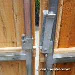 DAC-4090 Installed on Steel Framed Wood Gates - Cockeye BBQ - Latch Open