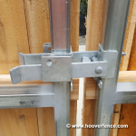 DAC-4090 Installed on Steel Framed Wood Gates - Cockeye BBQ - Latch Closed