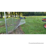 Newton Falls Ohio Ball Field Project - 6'H Homerun Fence Installation - 2019 - Chain Link Stretching