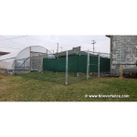 6' High 9 gauge Green Chain Link Fence Fabric Installed on Galvanized Framework - Champion, OH