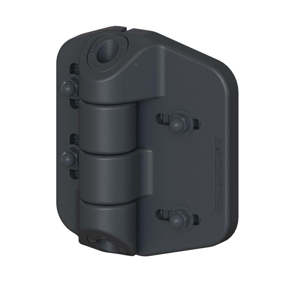 Nationwide Industries Cornerstone 2 - Fully-Adjustable Self-Closing Nylon Hinges, Medium Size
