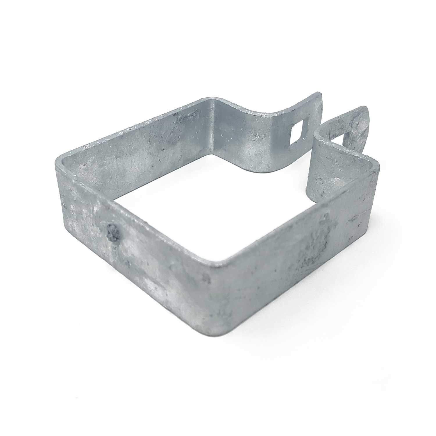 Chain Link Fence Brace Bands, Square - Galvanized