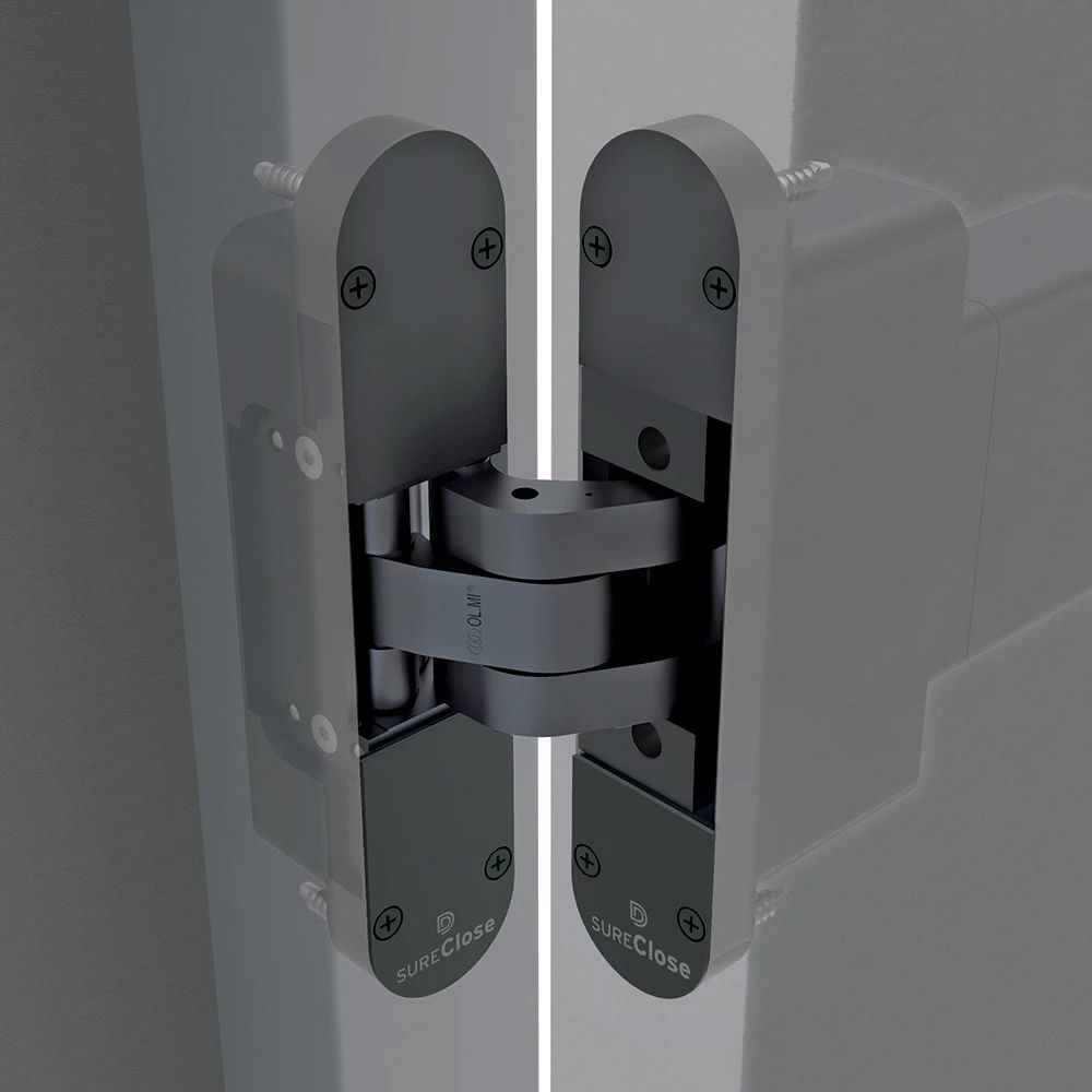 D&D Technologies SureClose ConcealFit Hydraulic Closer/Hinge System for Gates and Doors