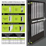 D&D Technologies SureClose ConcealFit Kit for Gates and Doors (77108523)
