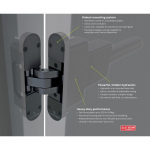 D&D Technologies SureClose ConcealFit Hydraulic Closer/Hinge System for Gates and Doors (SURECLOSE-CF)