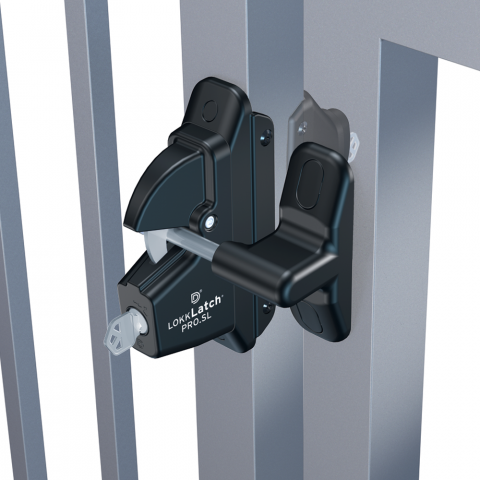 D&D Technologies LokkLatch PRO-SL Self-Locking Gate Latch for Vinyl Gates