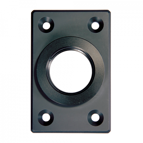 D&D Technologies SureClose - 6026-02 - Post Mounting Bracket, Center Mount - Aluminum