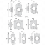D&D Technologies SureClose - 6026-01 - Post Mounting Bracket, Center Mount - Aluminum (7511) - Specifications