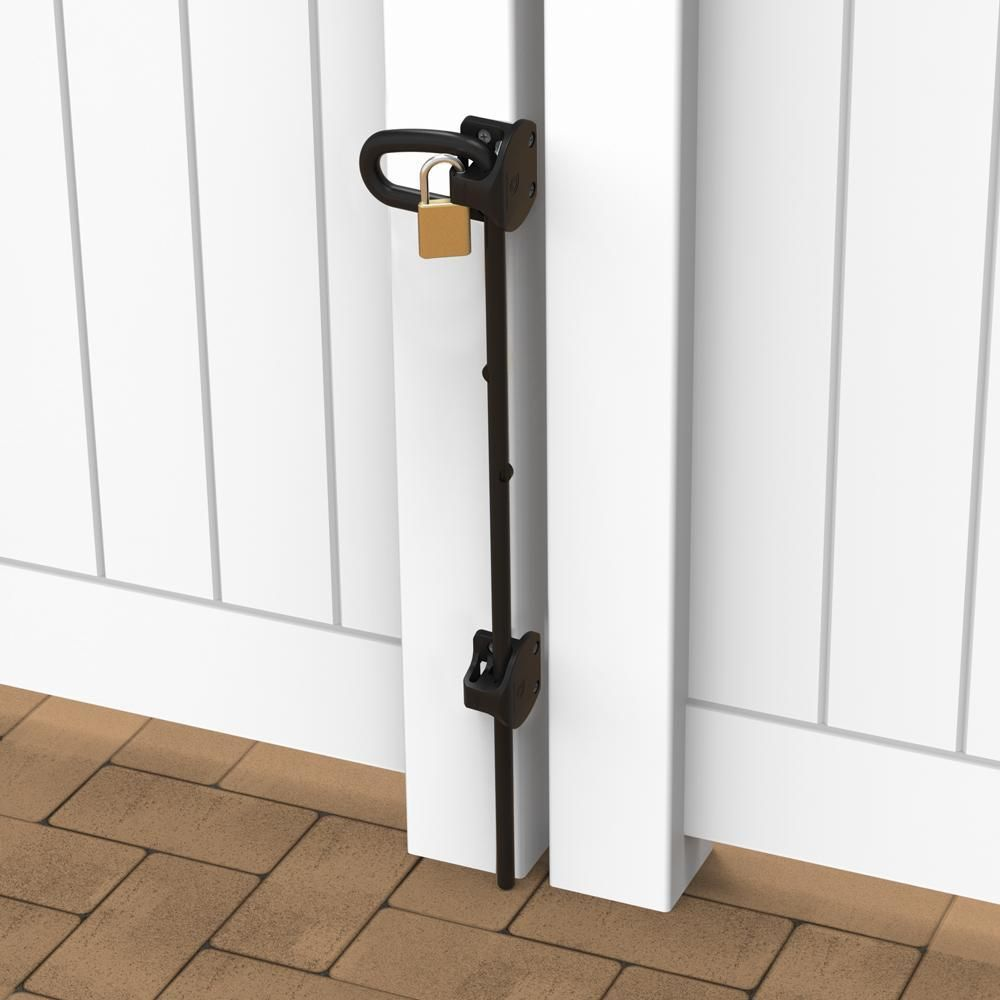 D&D Technologies Q-Bolt Drop-Bolt for Vinyl & Wood Gates