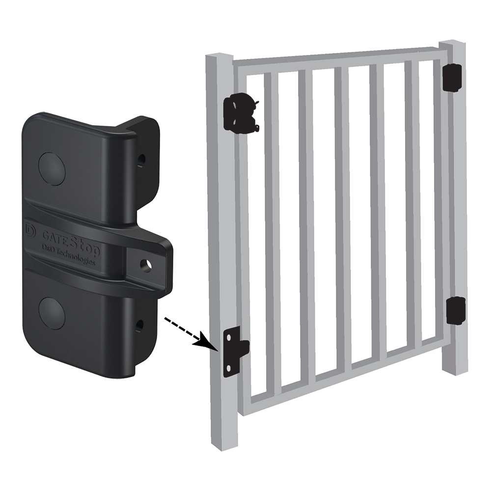 D&D Technologies Gate Stops For Metal Gates