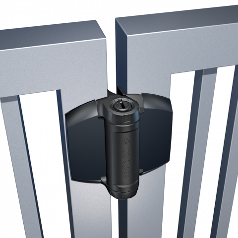 D&D Technologies TruClose Series 3 Heavy Duty Hinges for Metal, Wood, and Vinyl Gates - 2 Legs