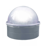 Classy Caps Summit Solar Lighting Post Caps for Round Chain Link Fence Posts - Silver (CC-CH2233S)