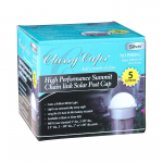 Classy Caps Summit Solar Lighting Post Caps for Round Chain Link Fence Posts - Silver (CC-CH2233S) - Packaged