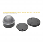 Classy Caps Summit Solar Lighting Post Caps for Round Chain Link Fence Posts - Silver (CC-CH2233S) - Adapters