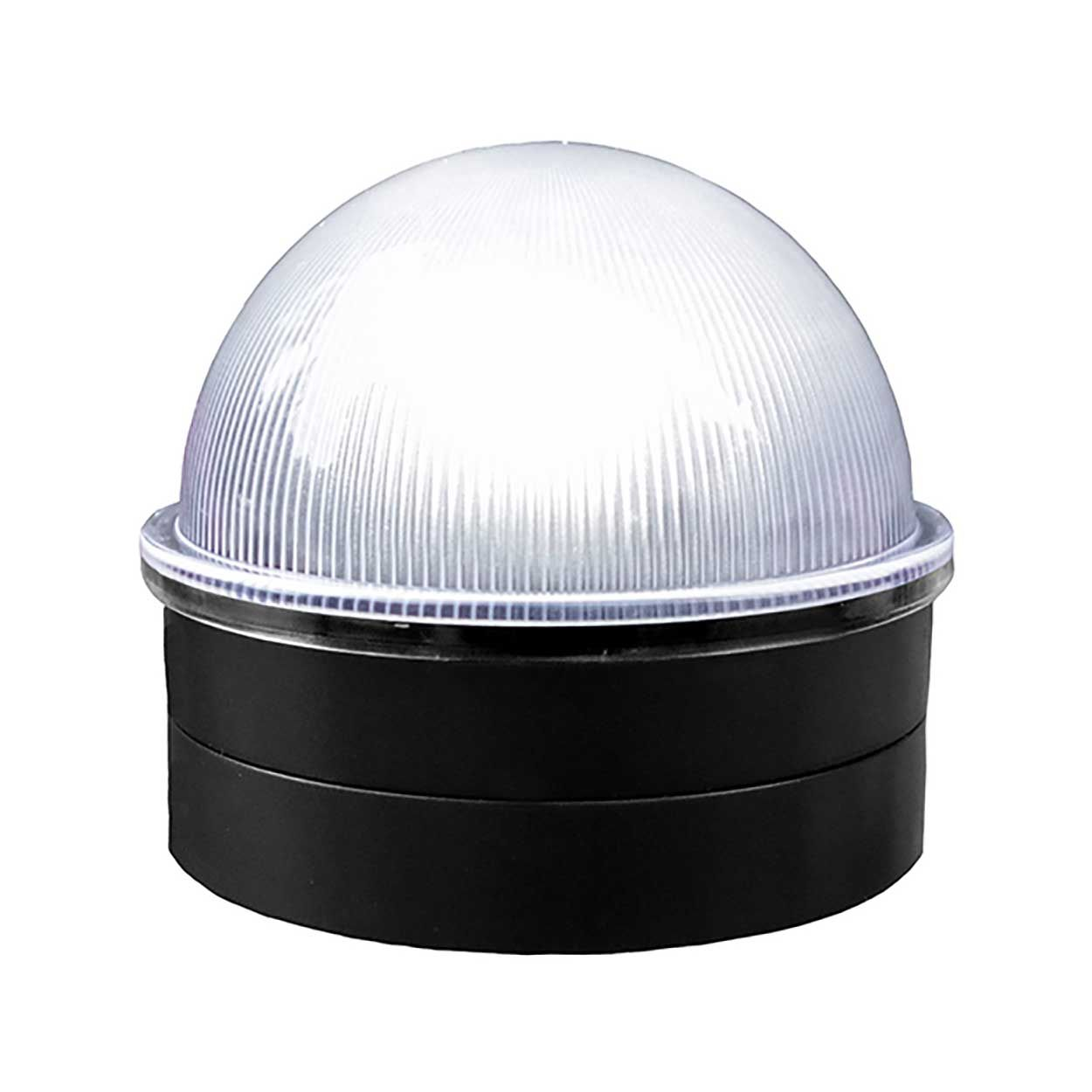 Classy Caps Summit Solar Lighting Post Caps for Round Chain Link Fence Posts - Black