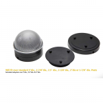Classy Caps Summit Solar Lighting Post Caps for Round Chain Link Fence Posts - Black (CC-CH2233B) - With Adapters