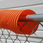 Poly-Cap - Chain Link Fence Top Safety Cap - Orange