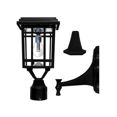 "Gama Sonic Prairie Bulb Solar Light w/GS Light Bulb - Wall/Pier/3"" Fitter Mounts"
