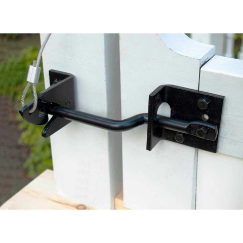 Snug Cottage Hardware Heavy Duty Stainless Steel Floating Bar Gravity Latch for Wood and Vinyl Gates