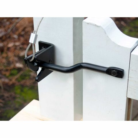 Snug Cottage Hardware Heavy Duty Stainless Steel Fixed Bar Gravity Latch for Wood and Vinyl Gates