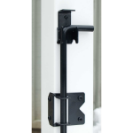 Snug Cottage Hardware 4096 Wrap Around Stainless Steel Cane Bolt/Drop Rod With Retainer On Post - Close-up