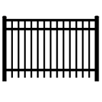 Jerith #I202 Aluminum Fence Section (JX-I202-S)