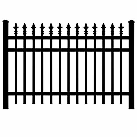 Jerith Industrial #I111 Aluminum Fence Section w/Finials