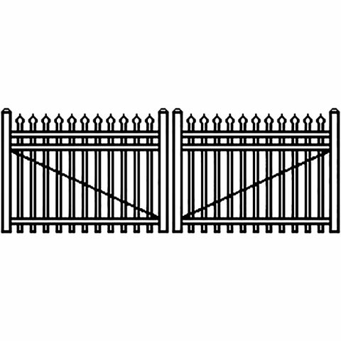 Jerith Industrial Aluminum Double Driveway Gate - Style #I101