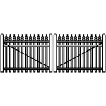 Jerith Industrial Aluminum Double Swing Gate Style #I111 w/Finials (JXE-I111-DG)
