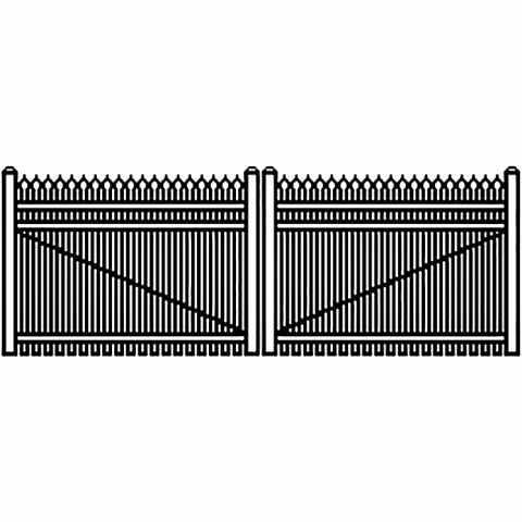 Jerith Industrial Aluminum Double Driveway Gate - Style #I401