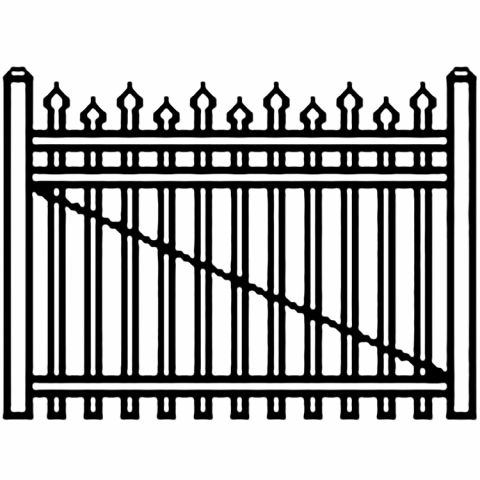Jerith Industrial Aluminum Single Driveway Gate - Style #I100