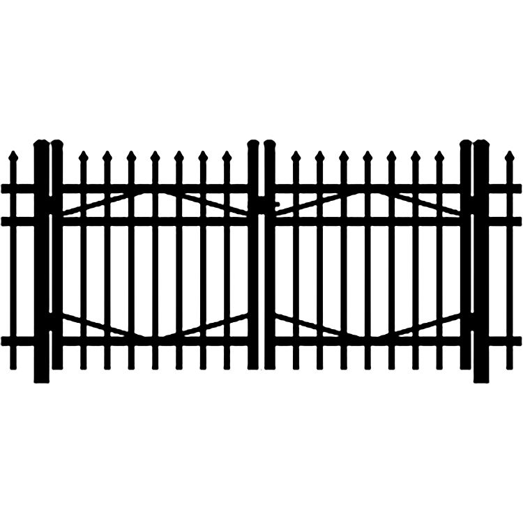 Jerith Industrial #101 Aluminum Double Swing Gate
