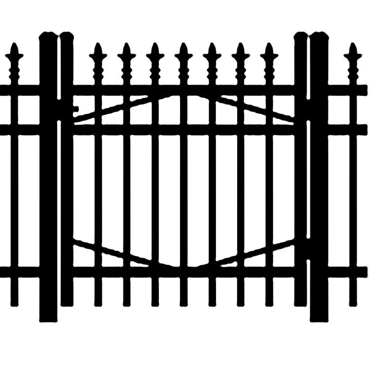 Jerith Industrial #111 Aluminum Single Swing Gate w/Finials