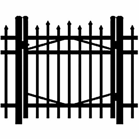 Jerith Industrial #I100 Aluminum Single Swing Gate