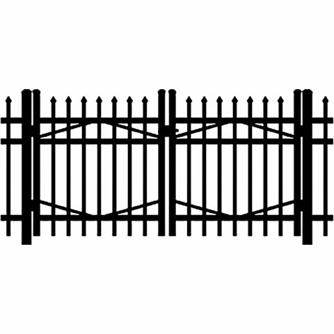 Jerith Industrial #I101 Aluminum Double Swing Gate