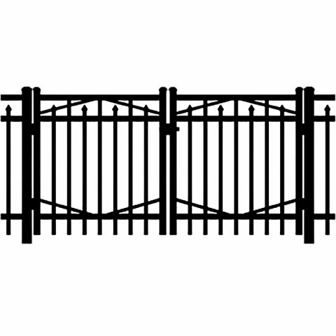 Jerith Industrial #I200 Aluminum Double Swing Gate