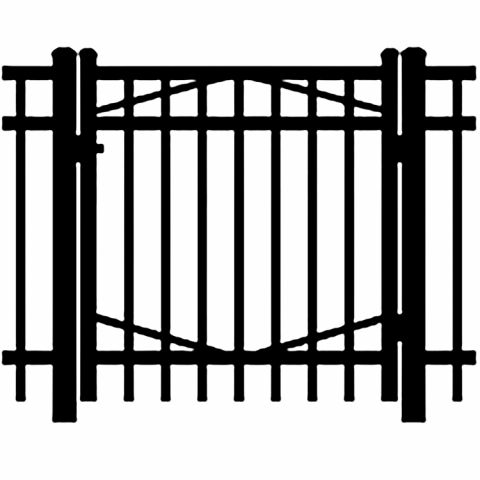Jerith Industrial #I202 Aluminum Single Swing Gate
